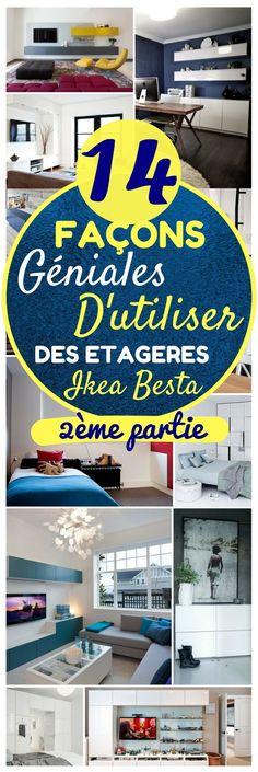 Les meubles Besta d'IKEA, c'est une collection complète de rangement, dans différentes configurations, qui doivent être fixées au mur. Les tiroirs et les portes se ferment silencieusement, grâce à leur fermeture spécifique intégrée. En plus, la simplicité des tiroirs permet de les décorer comme bon vous semble. Les meubles Besta peuvent être utilisés un peu partout : comme meuble TV ou meuble de rangement pour enfants #ikea #rangement #déco #décoration #meuble #chasseursdastuces #maison