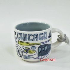 Starbucks Mugs, Espresso Cups, Lake Michigan, Holiday Ornaments, New Product, Chicago, Ceramics, Tableware, Gifts