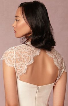 Gorgeous lace wedding dress @BHLDN
