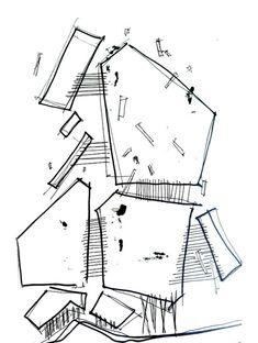 Architecture sketch simple lines concept architecture design. Model Architecture, Sketchbook Architecture, Site Analysis Architecture, Architecture Design Concept, Conceptual Architecture, Cultural Architecture, Futuristic Architecture, School Architecture, Mughal Architecture