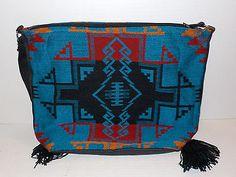 New-SOUTHWESTERN-Aztec-Native-Print-WOMENS-Acrylic-Shoulder-Bag-Purse-Western-f