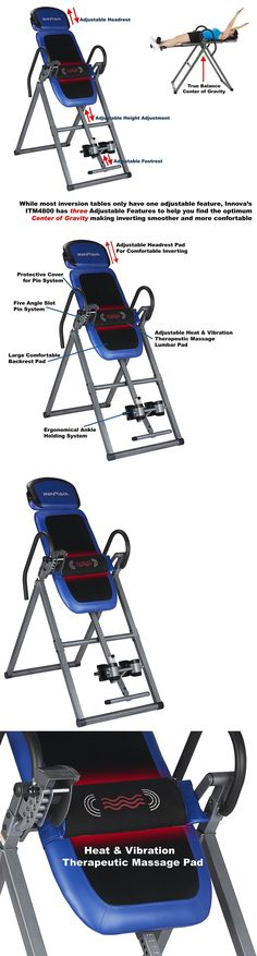 Inversion Tables 112954: Heat Massage Therapeutic Inversion Table Vibrate Back Pain Relief Folding Muscle -> BUY IT NOW ONLY: $199.99 on eBay!