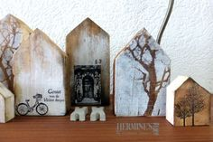 Altered wooden blocks by Hermine Koster