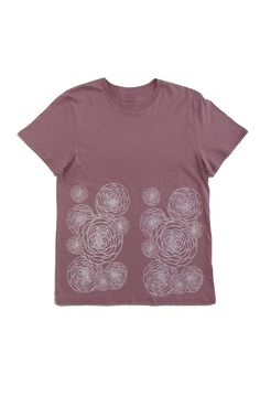Flower Power: Hand Printed 100% Organic Cotton Original Mushpa + Mensa Design Whiskey Rose T-Shirt #flowers #flowerpower #organiccotton #lesbianowned #alternativeapparel #mushpamensa #mushpaymensa #mushpa #mensa #freehand #organic #flower #magic Dried Lavender Flowers, Rose T Shirt, Custom Fonts, Silk Screen Printing, Alternative Outfits, White Ink, Friends In Love, Cotton Tee, Flower Power