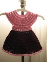 Whitt's Knits: Pink Petals Baby Dress - PATTERN