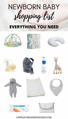 Baby Registry Must Haves | Newborn Shopping List - Cappuccino and Fashion