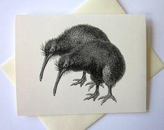 Kiwi Bird Stationery Note Cards Set of 10 with Matching Envelopes