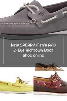 New SPERRY Men's A/O 2-Eye Richtown Boat Shoe. fashion mens shoes [$79.73]bestshoppingideas Boat Shoes, Men's Shoes, Sperrys Men, Fashion Shoes, Mens Fashion, Shoes Online, Eye, Moda Masculina, Man Shoes