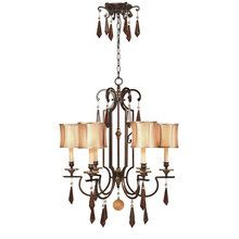 View the World Imports WI7646 6 Light Iron Chandelier from the Turin Collection at LightingDirect.com.