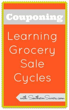 Get started with couponing for beginners by learning the grocery store sale cycles to save the most with coupons!