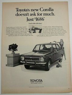 The Toyota Corolla has changed a lot over the years! #classic #cars #toyota #corolla
