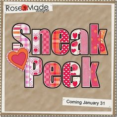 Sneak Peek #scrapbooking #digitalscrap #freebies