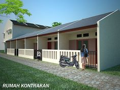 Rent small house or kost Apartment Layout, Dream Apartment, Apartment Design, Duplex House Plans, Tiny House Plans, Boarding House, Wall Cladding, Little Houses, Minimalist Home