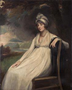 George Romney, English, 1734-1802, Portrait of Lady Georgiana Buckley, Oil on canvas, painting