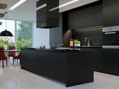 """36 Stunning Black Kitchens That Tempt You To Go Dark For Your Next Remodel""  #interiordesign"