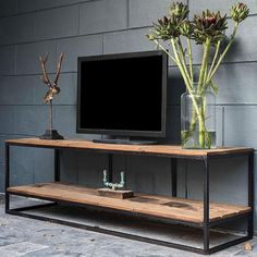 Luxury rustic tv stand for with modern furniture & industrial furniture. Wooden tv unit with free uk delivery! - tv stands - ideas of tv stands Tv Cabinet Design, Tv Wall Design, Tv Unit Design, Tv Furniture, Living Room Furniture, Modern Furniture, Furniture Design, Industrial Design Furniture, Industrial Tv Unit