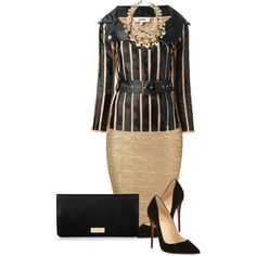 A fashion look from August 2014 featuring Jean-Paul Gaultier jackets, Christian Louboutin pumps y Henri Bendel wallets. Browse and shop related looks.