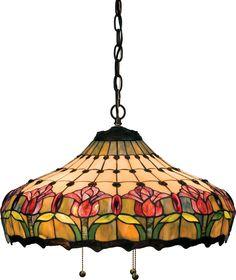 Colonial Tulip Pendant Light