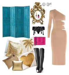"""""""Untitled #277"""" by xocolate ❤ liked on Polyvore featuring Eichholtz, Pier 1 Imports, C & F, Jonathan Adler, SCENERY, Lascivious, Alice + Olivia, Balmain and Khirma Eliazov"""