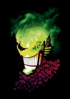 Gotham City is going insane with the Joker 'City of Smiles' T-Shirt, and Batman… Joker T Shirt, Graffiti, Joker Art, Joker Joker, Joker Pics, Im Batman, Gotham Batman, Batman Universe, Dc Universe