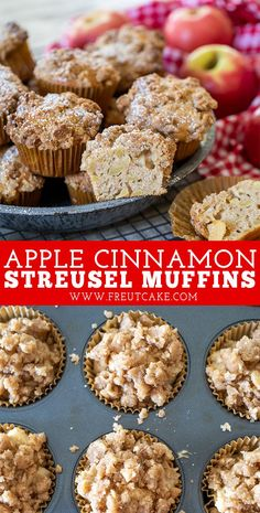 Streusel Topping For Muffins, Cinnamon Streusel Muffins, Sour Cream Muffins, Apple Streusel, Muffin Recipes, Apple Recipes, Brunch Recipes, Fall Recipes, Delicious Recipes