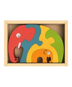 Look what I found on #zulily! Elephant Family Puzzle by BeginAgain #zulilyfinds