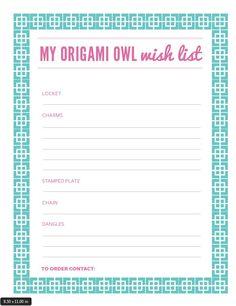 Origami Owl Wish List.   http://loveablelockets.com
