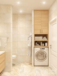 Laundry room bathroom - Bathroom Enclosure Ideas for Light, Elegant, Warm badezimmerideen bathroom elegant enclosure ideas light interiordesign Warm Bathroom, Laundry Room Bathroom, Guest Bathrooms, Laundry Room Design, Bathroom Design Small, Bathroom Layout, Bathroom Interior Design, Modern Bathroom, Bathroom Ideas