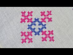 Basic Embroidery Stitches, Hand Embroidery Videos, Embroidery Designs, Kutch Work, Cover Pillow, Blouse Designs, Basket, Pillows, Dress