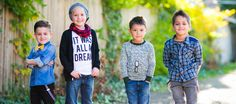 Modern clothes and accessories for little boys