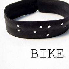 Bike - Braille Bracelet From Recycled Innertube -Vegan Bicycle Jewelry