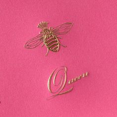 Hand Engraved Queen Bee Mother's Day Greeting Card, like the simple lines.
