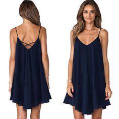 Summer-Womens-Sleeveless-Tank-Vest-Tops-Evening-Cocktail-Party-Beach-Mini-Dress