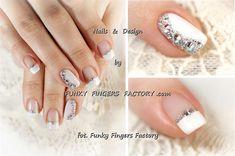 Gelish Wedding nails with Swarovski crys by funkyfingersart - Nail Art Gallery nailartgallery.nailsmag.com by Nails Magazine www.nailsmag.com #nailart