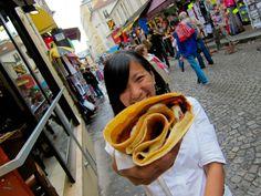 Banana Nutella crepe! #paris #food