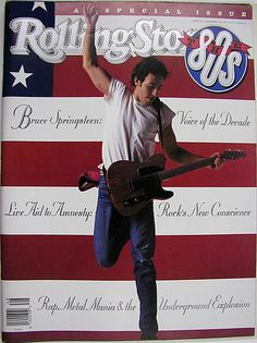 Rolling Stone cover of Bruce Springsteen by Annie Leibovitz American Music Awards, Bruce Springsteen, Elvis Presley, Rock And Roll, Dr Hook, Rolling Stone Magazine Cover, The Boss Bruce, Annie Leibovitz Photography, Rap Metal