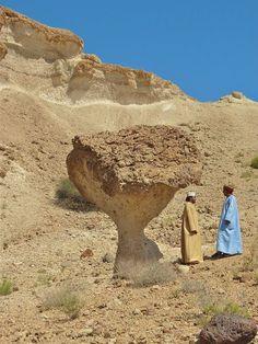 Oman - Desert Mushroom. Photo by Susan T. Visit: http://omanpocketguide.com  #Oman #travel #TravelToOman