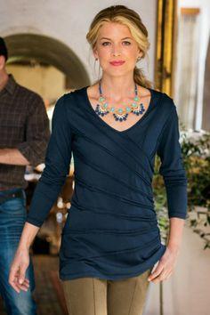 Claire Tee - Surplice Tee, Surplice T-shirt, Womens Soft Tee   Soft Surroundings