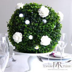 Centre de table on pinterest fairy berries vases and for Fausse boule de buis