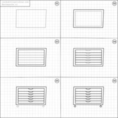 How to draw a cupboard.