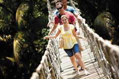 While sailing the Western Caribbean aboard the Norwegian Jewel, why not brave a rope bridge at Gumbalimba Nature Park in Roatan, Honduras?  www.YourCruiseAwaits.com