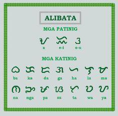 the alibata is native filipino alphabet. we spell it as it is pronounced. no added letters when you spell and/ or no added sound when you speak. Alibata, Peace Studies, Filipino Art, Baybayin, Filipino Tribal Tattoos, Alphabet Charts, Arm Sleeve Tattoos, Pop Art Portraits, Tagalog