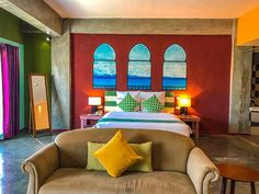 The Henry Hotel Cebu: Minimalist Edifice meets Class | Freedom Wall Hotel Lobby, Hotel S, At The Hotel, Marilyn Monroe Room, Freedom Wall, Fluffy Bedding, Concrete Interiors, House Restaurant, Window View