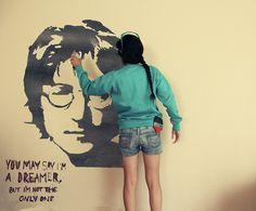 John Lennon by Parajo =), via Flickr