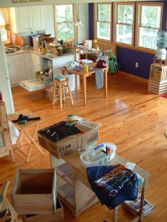 """Our old house mid-downsizing. Helena, CA In Chip and I started to seriously """"downsize,"""" not as a philosophical exercise but. Downsizing Tips, Organization Hacks, Organizing Tips, Step Program, Digital Art Tutorial, Home Free, Drafting Desk, Paradise, Peter Walsh"""