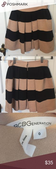 BCBGeneration pleated skirt BCBGeneration pleated skirt size 0. This skirt is super cute and very versatile- great for the office or a night out. Sits right at the waist and has an a-line flair. Worn only a handful of times, no visible signs of wear. BCBGeneration Skirts