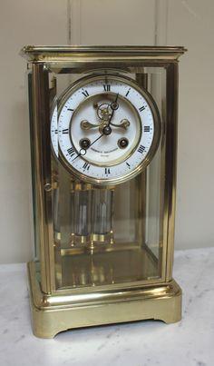 Antiques Atlas - French Visible Escapement Four Glass Clock