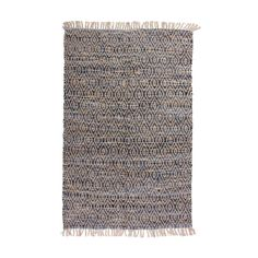 Our hand woven jute denim floor rug, made from a cotton and jute blend is ideal for the living area or as a decorative feature to add colour and texture to