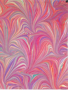 Hand marbled fabric