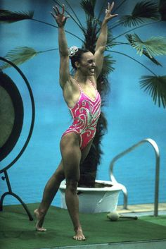 1984 Los Angeles Olympics Games Synchronized Swimming